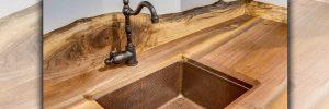 all wood sink design